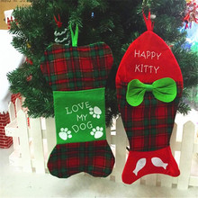 1 pc tao town christmas stockings socks gift bag decoration supplies non woven christmas decoration
