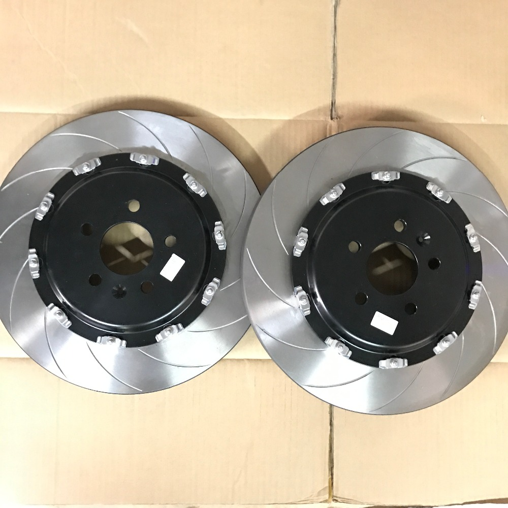 Jekit Curve Groove finish 380*34mm brake disc with floating Black center bell for Audi S4 B6 front brake kit