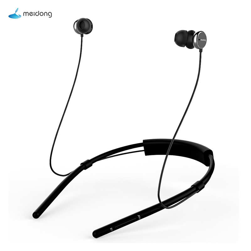 Meidong HE6 Bluetooth Headset Wireless Sports Headphones Active Noise Reduction In-Ear Neck Neck Earphones with Microphone ea7 футболка