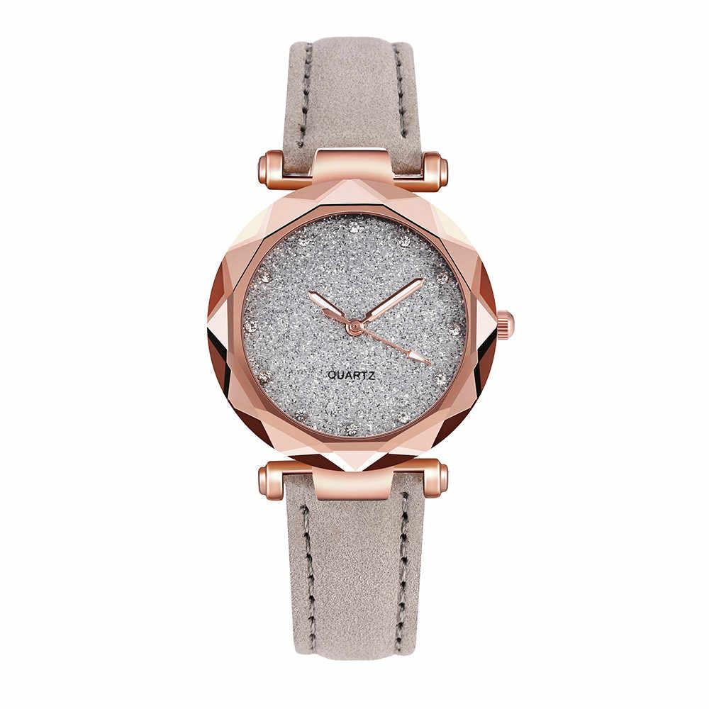 レディースファッション韓国のラインストーンローズゴールドクォーツ時計女性ベルト腕時計大壁時計機構 relojes パラ mujer