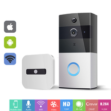 hot deal buy ip video intercom wi-fi video door phone ring door bell wifi doorbell camera for apartments ir alarm wireless security camera