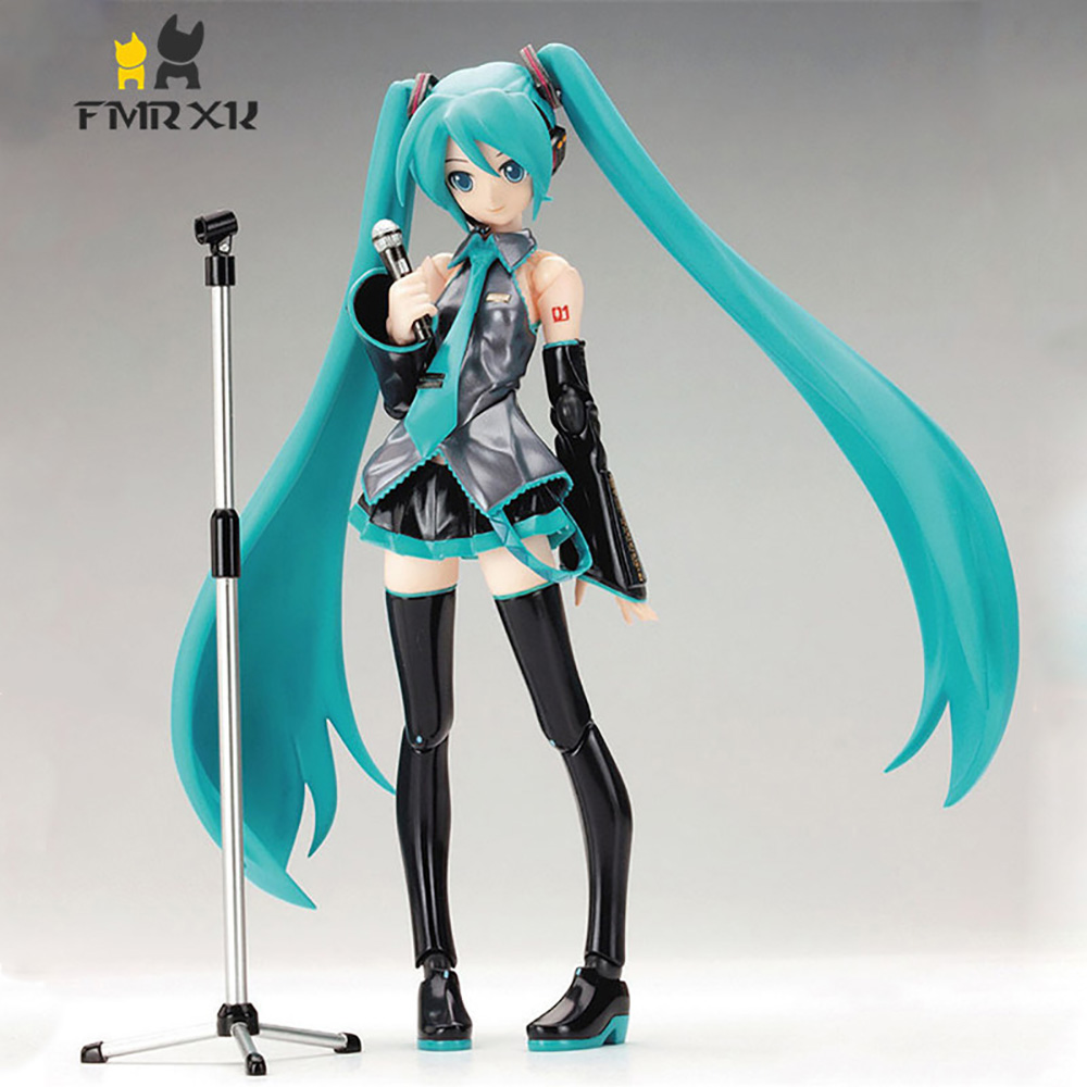 FMRXK 15cm Movable Anime Action Figure Hatsune Miku Model Toy Doll Toy PVC Figma 014 Heroines Collectible free shipping 6 volcaloid hatsune miku with guitar ver boxed 14cm pvc action figure collection model doll toy figma 200