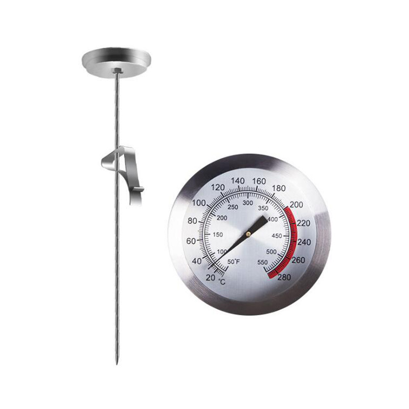 Meat thermometer kitchen stainless steel oven cooking barbecue probe thermometer food meat table 290 degree cooking tool in Temperature Instruments from Tools