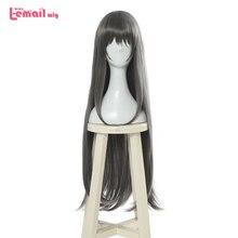 L Mail Pruik Sakurajima Mai Cosplay Pruiken Bunny Girl Cosplay Lange Grey Rechte Pruik Halloween Hittebestendige Synthetisch Haar