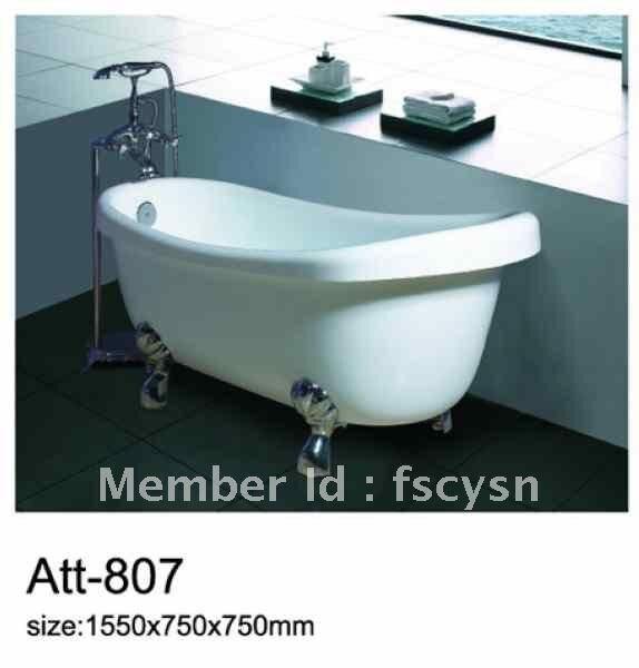 Homedepot clawfoot tub acrylic bath tub-in Inflatable & Portable ...