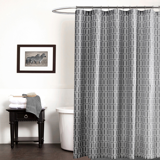 Geometric Printed Shower Curtains Bathroom Curtain Waterproof Shower ...