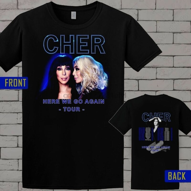 1a285b1a New Cher here we go again T Shirt all SIZE-in T-Shirts from Men's ...