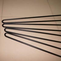 86CM Black Metal Hairpin Legs FOR funiture, 4 PCS,2 rod 3/8 Solid Iron, Industrial Style Sofa Table, Entry Table