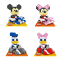 Diamond Building Blocks Mini Ladrillos DIY Regalo Modelo Kart de Mickey Minnie Mouse, Donald Duck Daisy Juguetes de Personajes de Dibujos Animados Clásicos