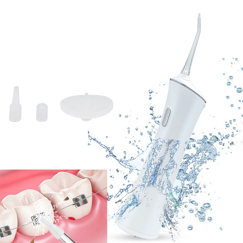 Portable Electric Dental Flosser Oral Irrigator Rechargeable Water Floss Tooth Washing Tool Water Jet Oral Irrigation 160ml yasi fl v8 3 mode 360 degree rotation rechargeable electric oral water jet rinser white blue