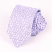 Mantieqingway Silk Ties for Mens suits Floral Neck Ties Neckwear Light Purple Cravate Wedding Necktie Business Tie Party Gifts