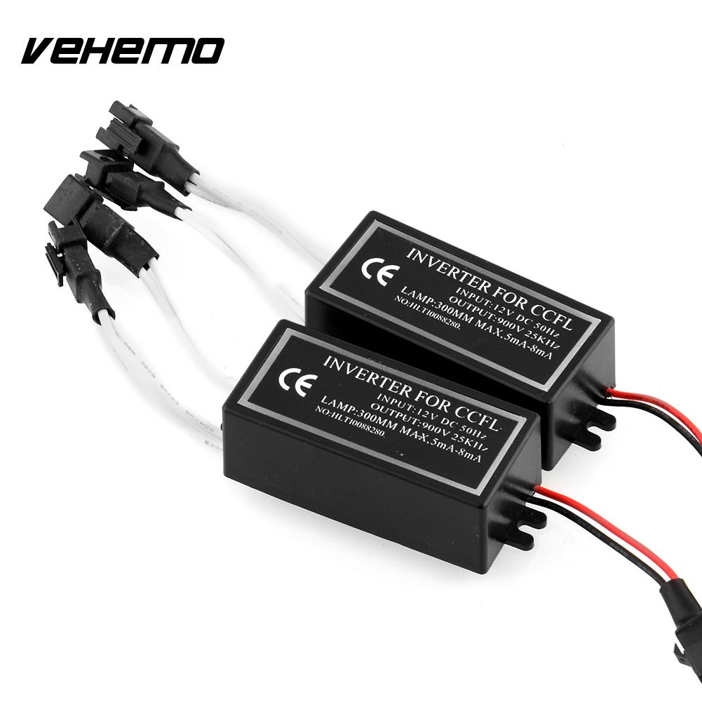 Vehemo 2X High quality 4-outputs Spare Inverter Ballast For CCFL Angel Eyes Halo Replacement Kit 12V Inverters