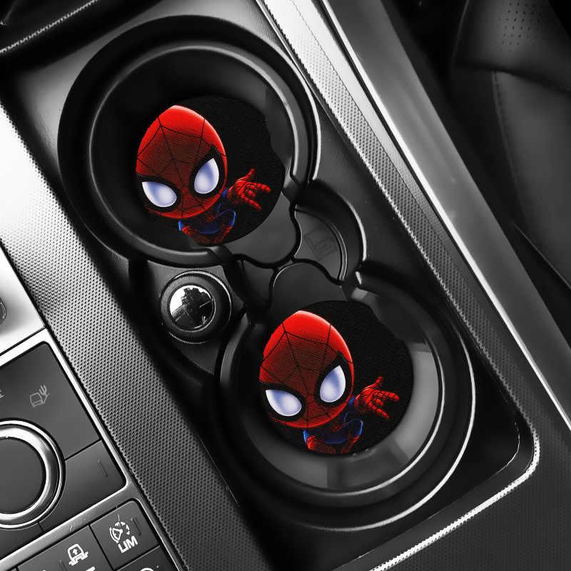 New Avengers Spider-Man Iron Man Capitan Thanos Azione Sottobicchiere per La Tazza Auto Giocattolo Best di Compleanno Regalo Auto