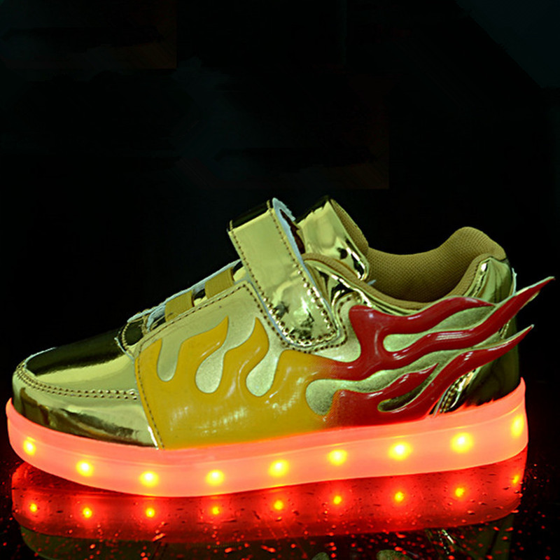 2016 New Spring Children Shoes With Light Up Sneakers For Kids USB Children Lighting Shoes Chaussure Lumineuse Enfant Pour Fille