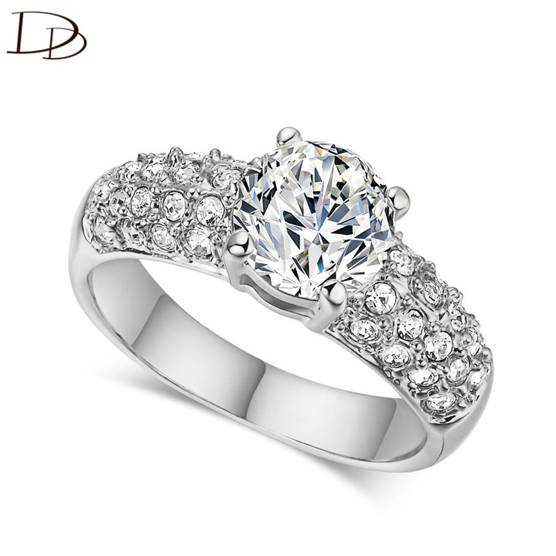 DODO 925 Sterling Silver Rings For Women AAA Cubic Zircon Wedding Fine Jewelry Vintage Bijoux Femme Bague Wholesale Anel DD024