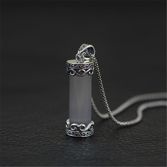 Exclusivo! Handmade Genuine 925 Sterling Silver Criado Gemstone Pingente Amuleto amuleto Novo Punk Rock Jóias Plata