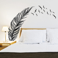 SAE Fortion Feather Sea Mew Wall Stickers 57X88cm Size Wall Art Stickers Decals Home Wall Decoration