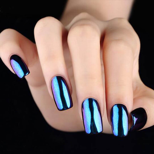 10g Pcs Real Mirror Effect Chrome Nail Powder Holographic Shimmer Laser Color Acrylic