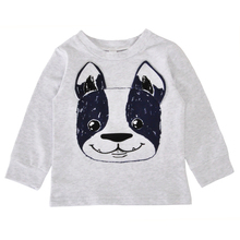 Baby Boy Clothing Set Christmas Animal Dog Kids Infant Clothes Autumn Cartoon T-shirt+Star Smile Face Pants Girl Clothing Sets