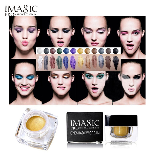 Waterproof Long Lasting Glitter Eyeshadow Cream 12 Colors Mulfunctional-Shimmer Eyeshadow, Eyeline,Highlight Makeup