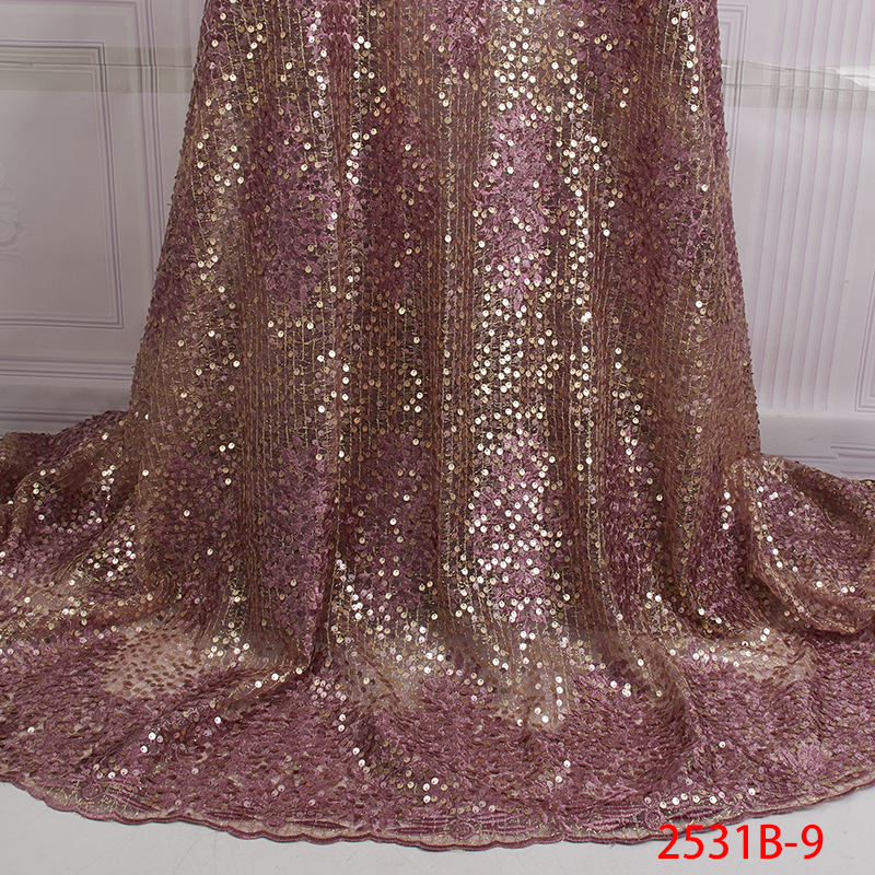 Pink Accessor African Lace Fabric 2019 High Quality Lace Embroidery French Mesh Nigerian Lace Fabrics Material