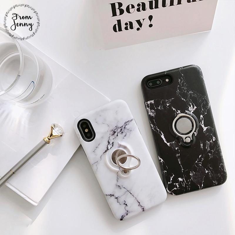 De Jenny Classicial Tpu brillant marbre Pour iPhone6 6 s 6 plus 6 splus i7 i7plus cas Pierre marbre cas de couverture de téléphone