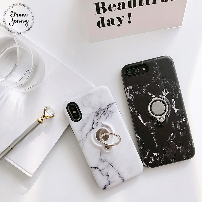 From Jenny Classicial Soft Tpu glossy marble For iPhone6 6s 6plus 6splus i7 i7plus case Stone marbre phone cover case