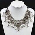 Moda de acrílico del taladro determinado de la flor declaración Collares Vintage gargantilla Collares Maxi collar Collier Femme joyería moda