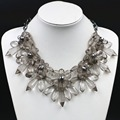 Trendy Acrylic Flower Set Auger Statement Necklaces Vintage Choker Collares Maxi Necklace Collier Femme Fashion Jewelry