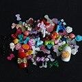 Biutee 100 шт./лот ногтей маникюр смолы 3D акриловая украшения галстук-бабочку цветок нескольких стилей ногтей DIY украшения