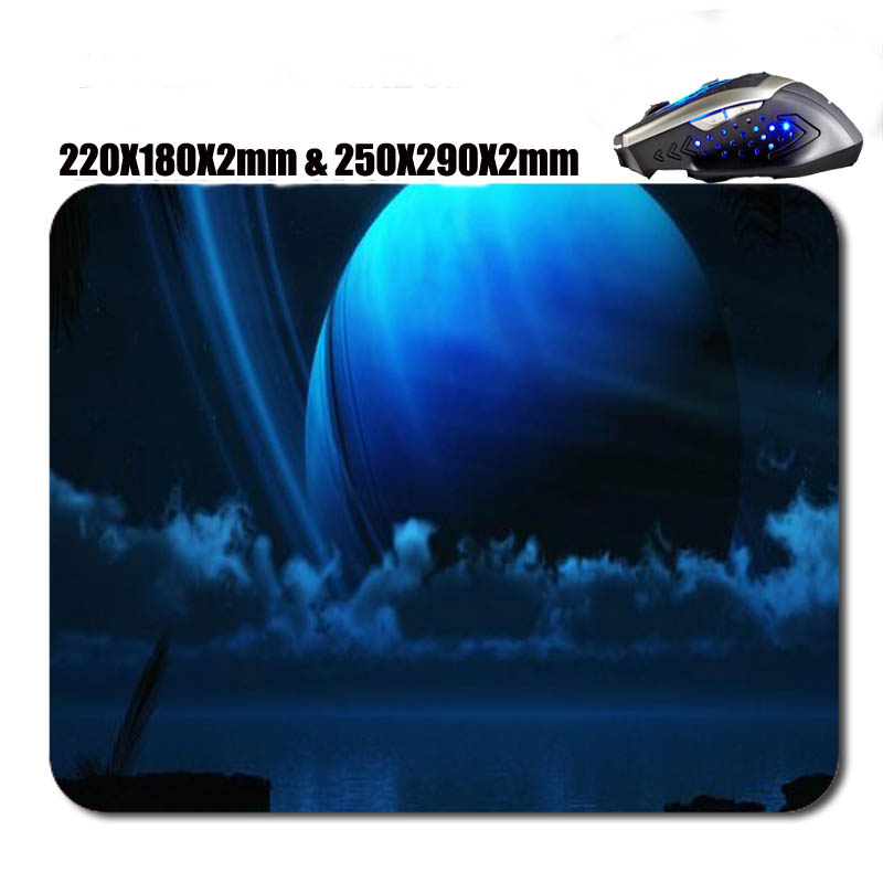 cool space backgrounds art Rubber Professional Game Keyboard Mouse Pad Not Fade Washable Free Shopping Can be used to As Gift image