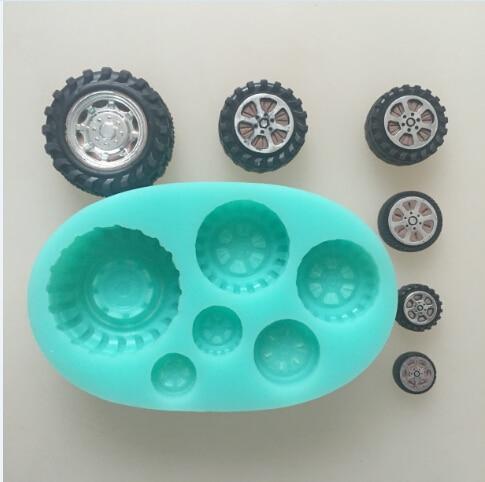car wheel tires silicone flexible mold, tire silicone resin mold, ,crayon mold, fondant cake mold