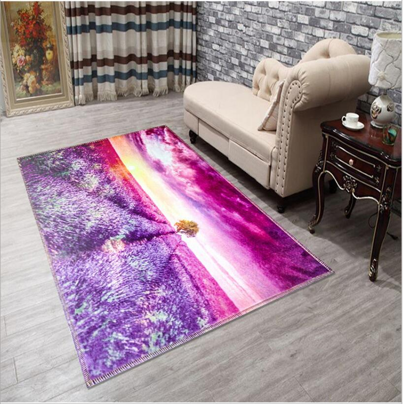 160X230CM Large Size Lovely Entrance Carpet 3D Printed Flower Sea ...
