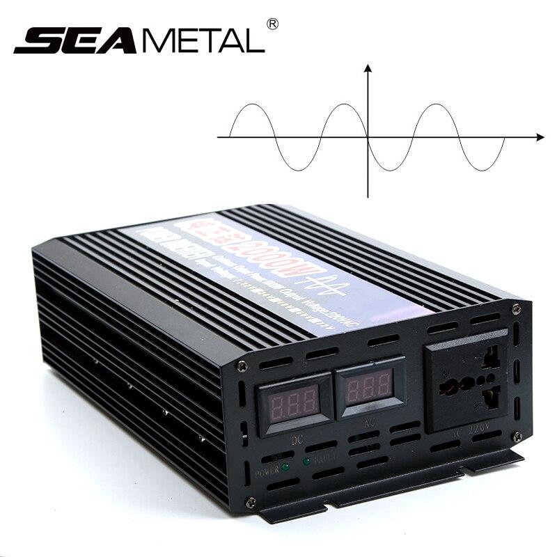 4000 W 2000 W Pur Onde sinusoïdale Voiture Power Inverter DC12V À AC220V Électronique Onduleur De Voiture Alimentation Portable Pour La Maison Auto Accessoires