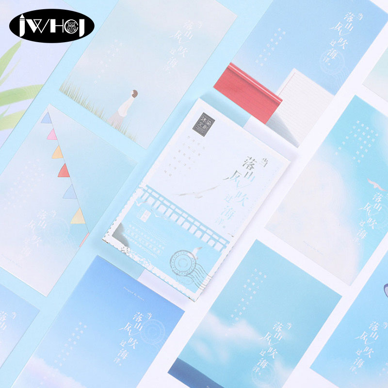 30pcs Beautiful mountains wind oceans scenery Postcard Valentine's Day New Year Greeting Card Birthday Gift Message thanks cards