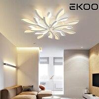 Ekoo現代のシンプルなポストモダンledシーリングライトタンポポ屋内調光可能ランプリビングルームベッドルームダイニングルーム学習室