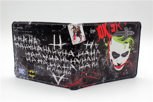 Batman The Dark Knight JOKER wallet Full Print coin bifold purse women men wallet japan anime katekyo hitman reborn wallet cosplay men women bifold coin purse