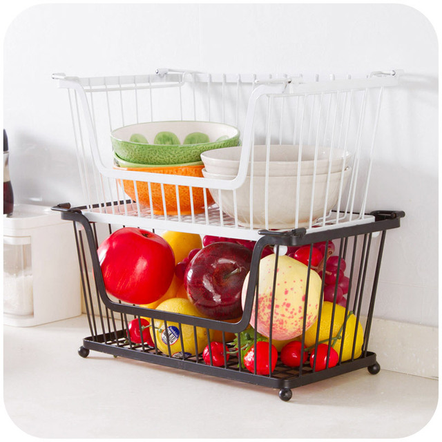 Kitchen Vegetable Storage Baskets: Kitchen Stackable Storage Rack, Fruit And Vegetable