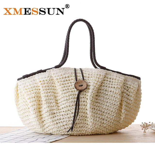 Xmessun Brand Summer Handbags Fashion 2018 Tote Designers Straw Bag Woven Beach Famous Designer Brands