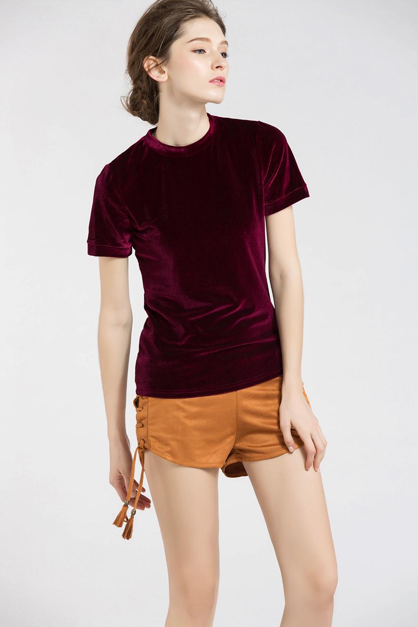 HTB12AOpSXXXXXcrXpXXq6xXFXXXm - Summer Tops Short Sleeve Cotton Velvet T Shirt Women