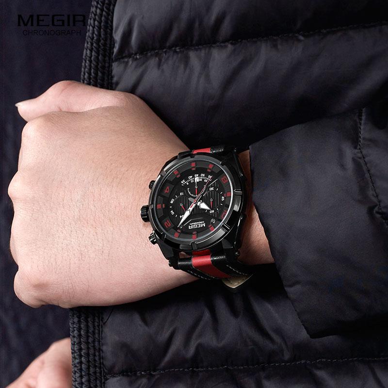Megir Watches მამაკაცის მაჯის - მამაკაცის საათები - ფოტო 6