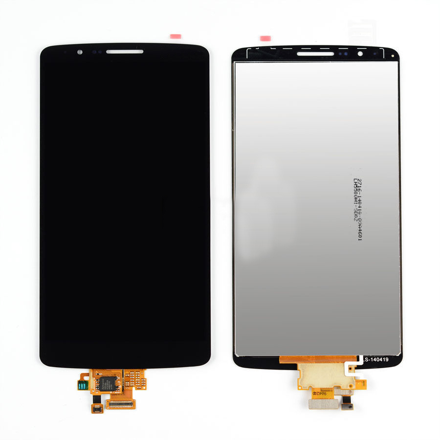 Black LCD Display + Touch Screen Digitizer Assembly Replacement For LG G3 D850 D851 D855 VS985 Free Shipping original lcd for lg g3 d850 d855 lcd display screen digitizer touch glass pantalla with frame bezel assembly replacement