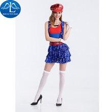 Manluyunxiao super mario cosplay anime super mario traje mujer adultos bling bling cosplay envío gratis