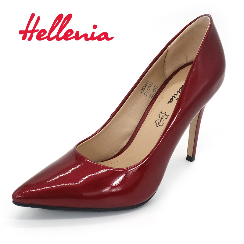 Hellenia 2018 New Women's  Spring Autumn pointed toe  Shoes Woman Ladies Pumps Sexy Thin High Heels Footwear Women wedding shoe womens shoes high heel woman pumps spring autumn basic silk slip on pointed toe thin heels sexy wedding shoes ljx04 q