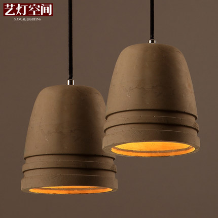 Creative Space Cement Pendant Lamp Restaurant Pendant Light Personality Retro Light Coffee Shop Art Deco Lighting