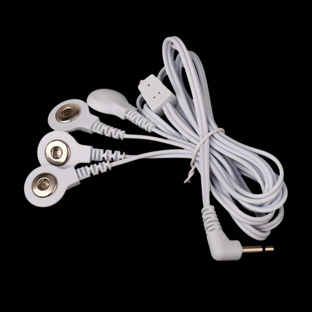 3.5 ミリメートルプラグ電極リード線接続ケーブルと 4 ボタンデジタル十治療マシンのマッサージヘルスケア