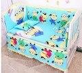 Promoción! 6 unids juego de cama bebé cama de los niños determinados de la ropa interior en cuna, incluyen ( bumpers + hojas + almohada cubre )