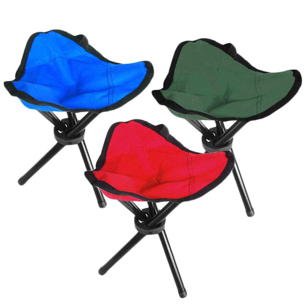high quality folding outdoor camping hiking fishing picnic garden bbq stool tripod three feet chair seat