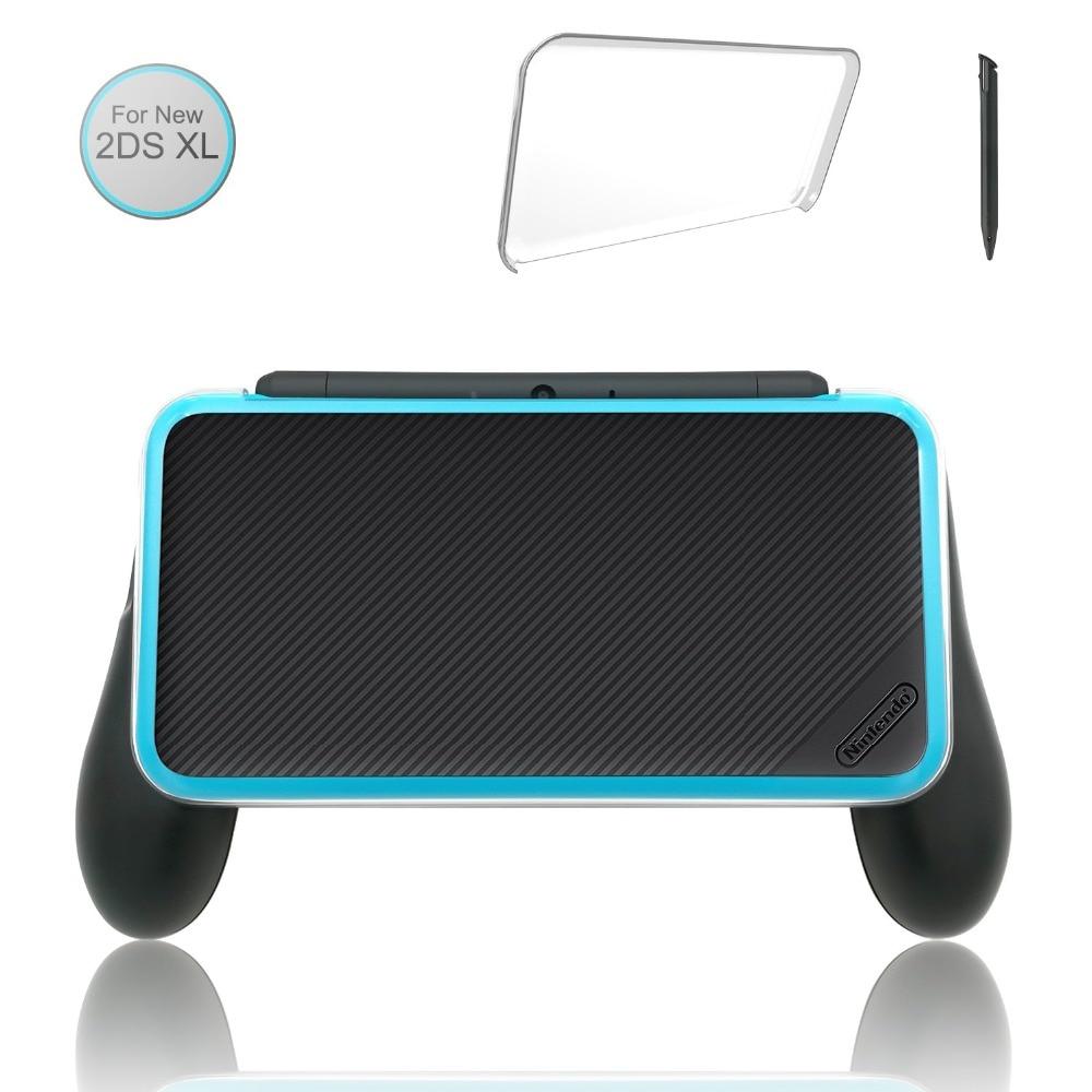 Hand Grip für Nintendo NEUE 2DS XL/LL Joypad Halterung mit 1 Stylus Stift und 1 Klar Fall für neue Nintend 2DS XL 2DS LL Zubehör