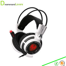 7.1 Surround Sound Stereo Over-the-Ear Gaming Headset with Noise Reduction Microphone, LED Lighting, Smart Vibration for PC